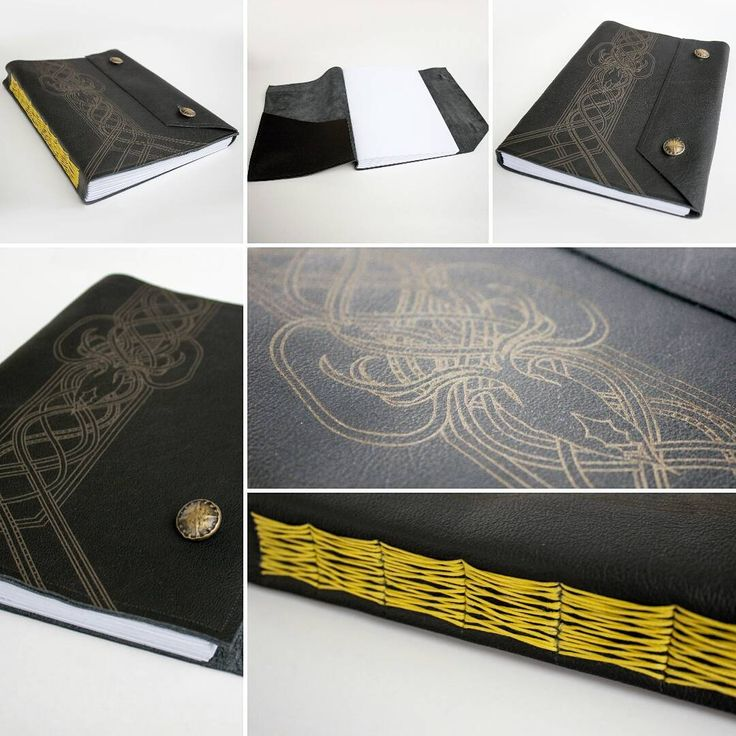 Aanda archive: leather sketchbook with engraved Kraken. / Z archiwum Aandy: skórzany szkicownik z wygrawerowanym Krakenem. #bookbinding #bookbinder #handbound #leatherjournal #leatherbook #kraken #sketchbook #handmadeinpoland #handmade #longstitch #longstitchbinding #aandaarchive