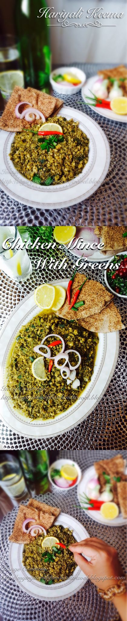 Hariyali Keema or green chicken mince curry is a delicious way of adding the goodness of spinach, dill and methi leaves to your diet.  Recipe link --> http://mytrystwithfoodandtravel.blogspot.ae/2016/07/hariyali-keema-recipe-green-chicken.html A very simple dish with not much preparation required. You can make this dish whenever you want a protein rich diet or simply when you want to make your fussy little eater eat greens.