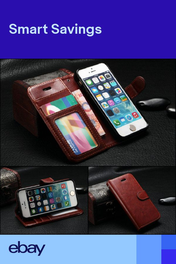 Leather Wallet Credit Card Holder Flip Stand Case Cover for iPhone 66splus