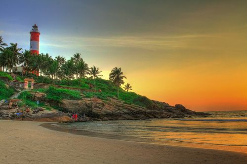 Kovalam Beach, Kerala by mehul.antani, via Flickr - hard to believe this was taken so close to Christmas time and the beach is so empty. Just a marvelous, luminous shot by Mehul Antani that captures the timeless allure of Kovalam Beach.