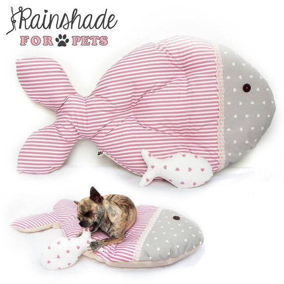Cuccia cuscino a forma di pesciolino. Per cani e di Rainshade