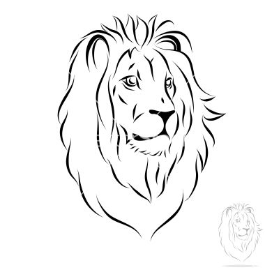 lion face outline lion face outline tattoo best photos of lion outline