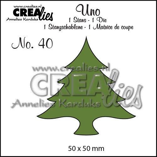 Uno no. 40 Kerstboom dik / Christmas tree wide