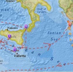 Interaktywna mapa podróży Odyseusza