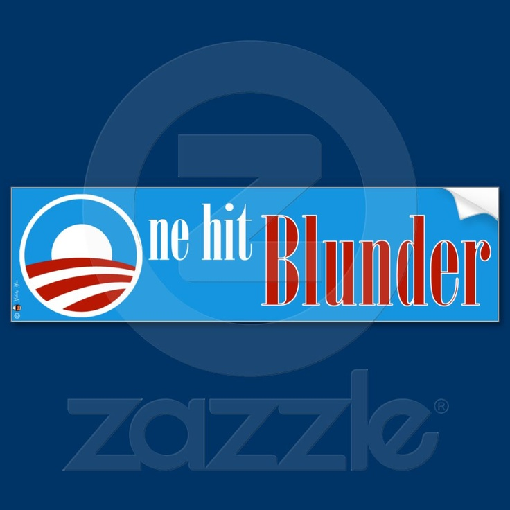 One hit Blunder Bumper Sticker from Zazzle.com