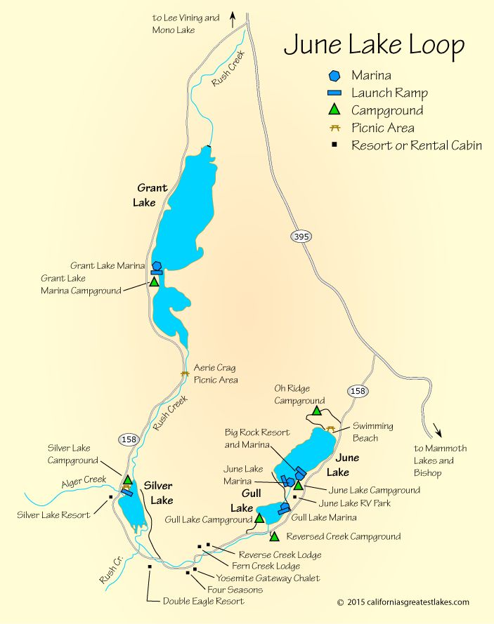map of June Lake, CA