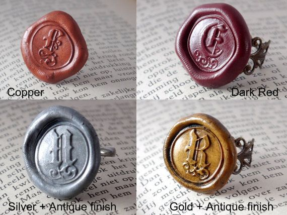 Personalized Monogram Ring, Signet Ring, Initial Ring, Personalised gift, Custom Jewelry with meaning, Wax seal jewelry Gift for Her