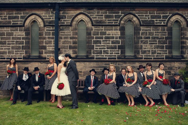 Claire and Jims 1950s American Gangster Themed Wedding by Assassynation Made me think of EMILY... one day... not ANY time soon... this makes me think of a great rockabilly theme wedding!