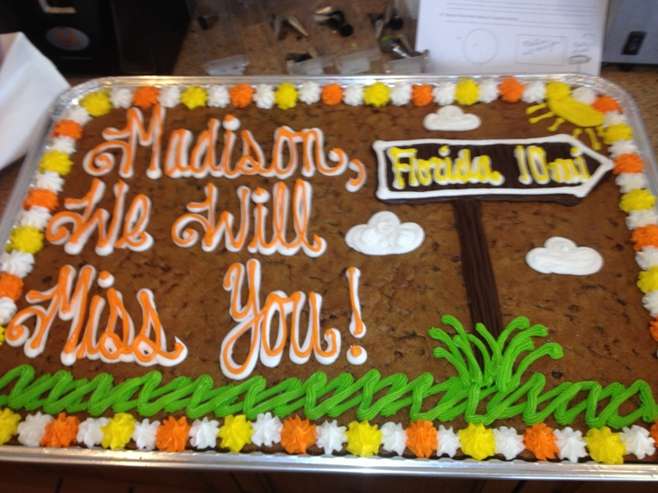 Cookie Cake Decoration For Going Away To College