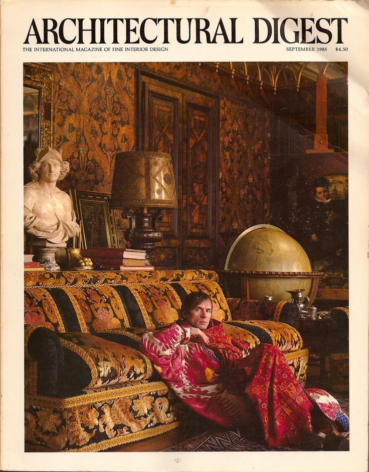 ARCHITECTURAL DIGEST VISITS: RUDOLF NUREYEV Interior Design by Emilio Carcano Text by Lee Radziwill/Photography by Derry Moore