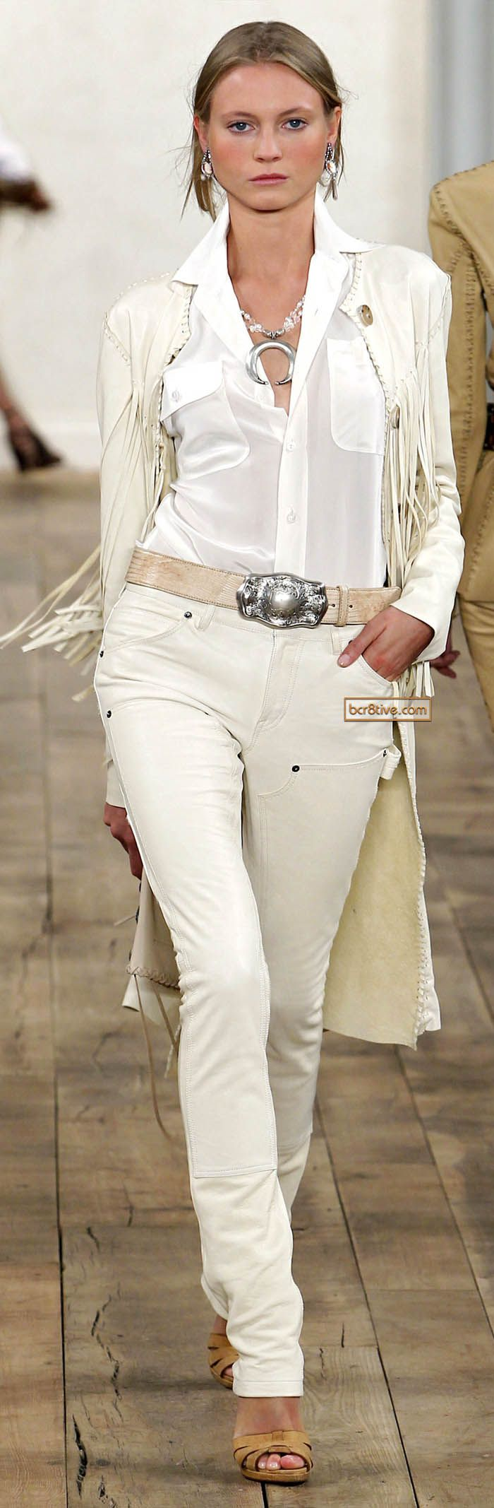 Fringes Shades Of White Boho Shirt Pants Jacket