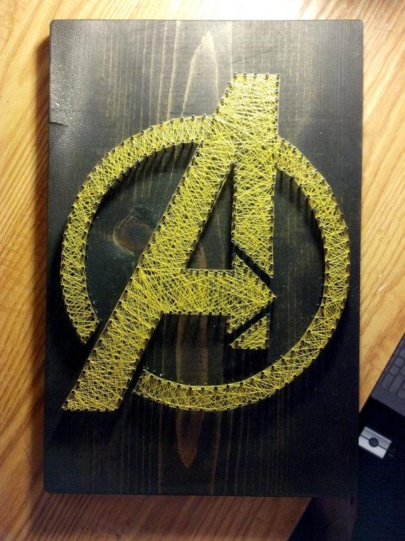 The Avengers String Art String Canvas String Art Art Nail String Art