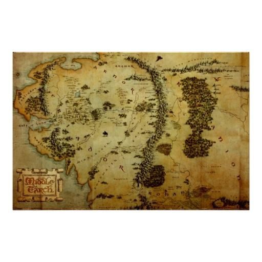Middle Earth Map #3 Poster #hobbit