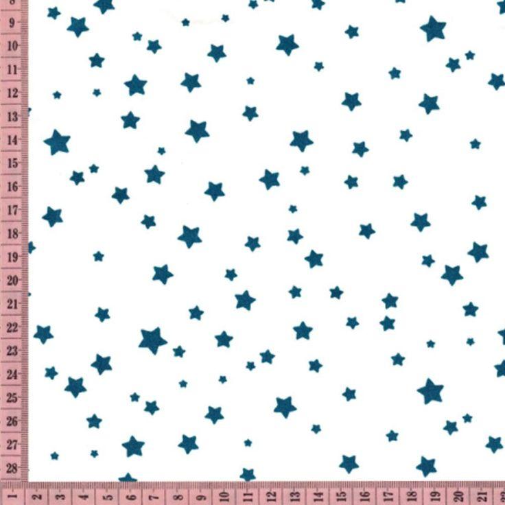 Pour réaliser à la couture toutes vos pochettes, sacoches, petites robes à petite ou grande échelle, voici unepopelinetoute douce, impriméeenFranceet certifiée OEKO-TEX*  L'unité de commande étant de 10 cm, pensez à faire la conversion.  Exemple : pour 10 cm saisissez1 dans la case quantité, pour 1,30 mètre saisissez 13.Minimum de commande :10 cm.  150 cm de laize. 1,80 € http://www.lafolleadresse.com/mercerie/2242-popeline-poussiere-d-etoiles-bleu-paon-sur-ecru.html