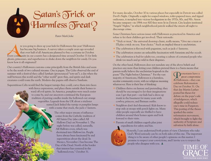 is halloween satans trick or a harmless treat - Article About Halloween