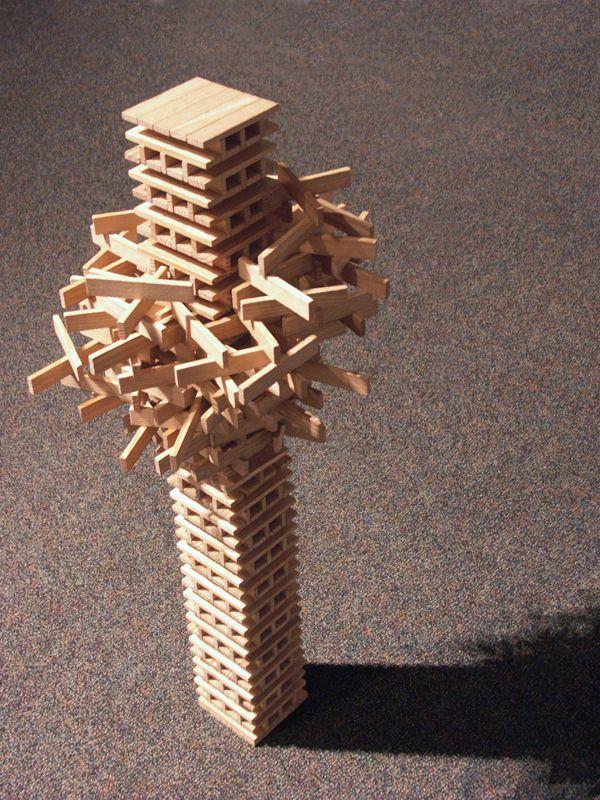 Free-form KEVA structure #KevaPlanks #ConstructionToy