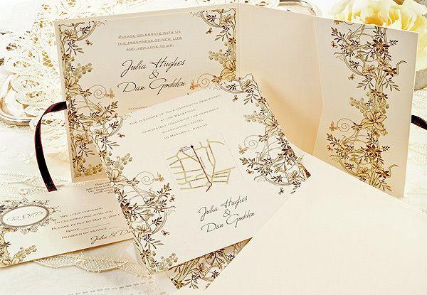 Beautiful wedding stationary