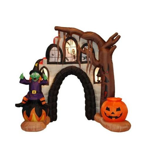 halloween inflatables | BZB Goods Halloween Inflatable Haunted House Arch Decoration & Reviews ...
