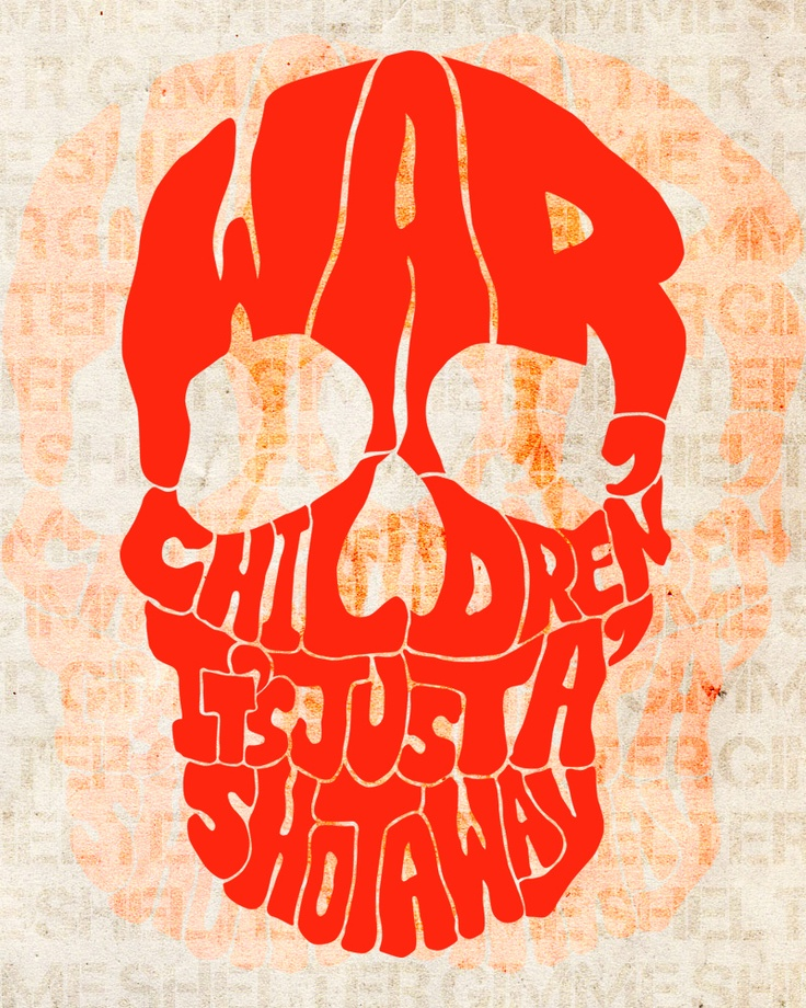Gimme Shelter. The Rolling Stones. 1969 lyrics classic rock skull psychedelic art poster