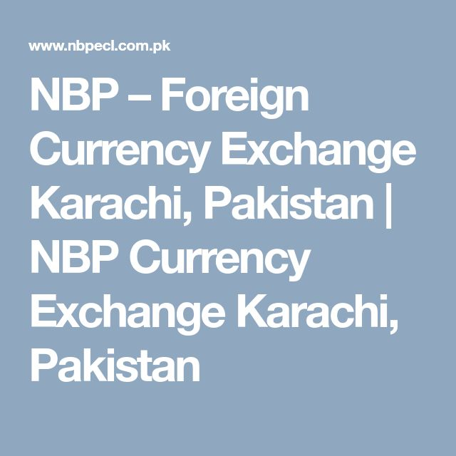 Karachi forex exchange