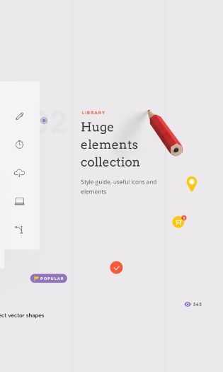Landing free UI kit. Tons of handcrafted UI components created to increase your web creating speed, for Sketch and Photoshop