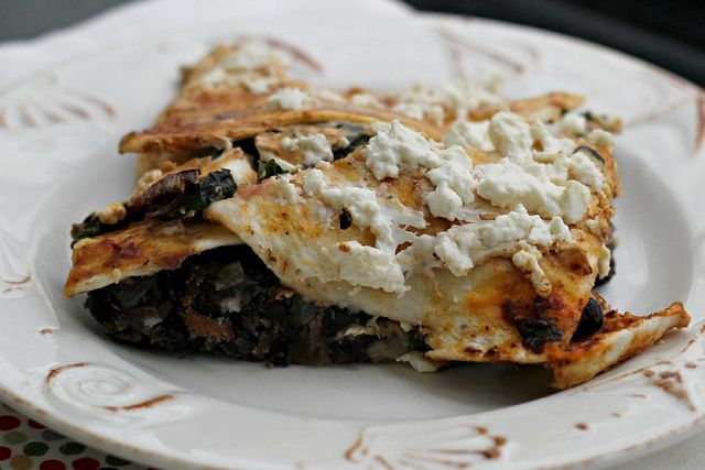 ... Pasilla-Tortilla Casserole with Black Beans, Mushrooms and Chard