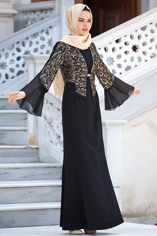 Tesettürlü Abiye Elbise 2017   Tesettürlü Gelinlikler ve Gelinlik Modelleri