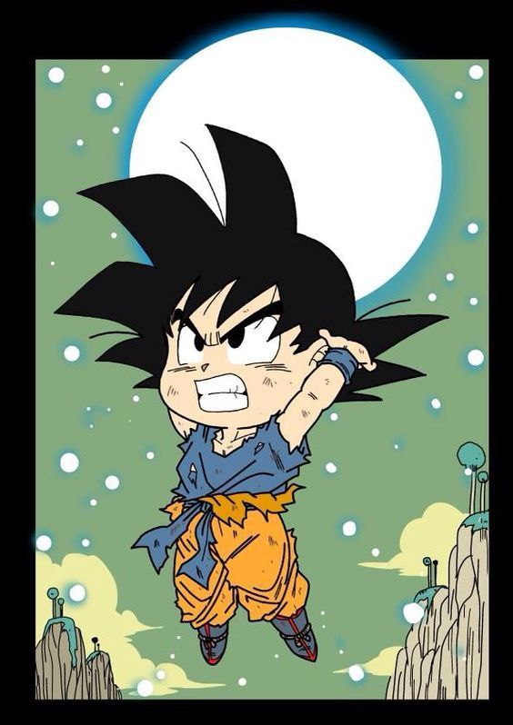 Chibi Goku! - Visit now for 3D Dragon Ball Z compression shirts now on sale! #dragonball #dbz #dragonballsuper