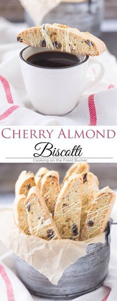 Take a break and enjoy this White Chocolate Cherry Biscotti with your morning coffee!