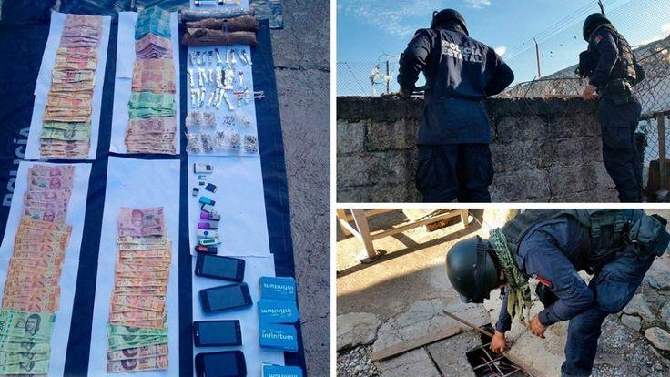 Localizan droga, objetos punzocortantes, aparatos y dinero en el penal de Chilpancingo