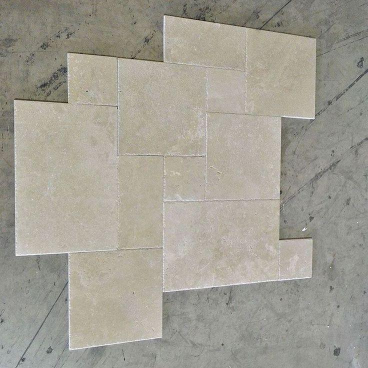"""Light travertine brushed and chiseled #travertine #tile #brushed #chiseled #flooring #construction #contractor"""