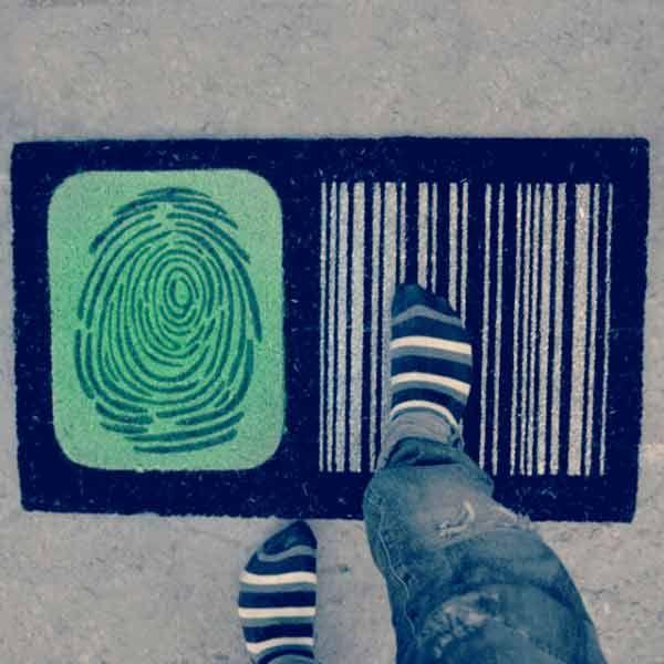 Fingerprint Barcode #Doormat #Oomph it!