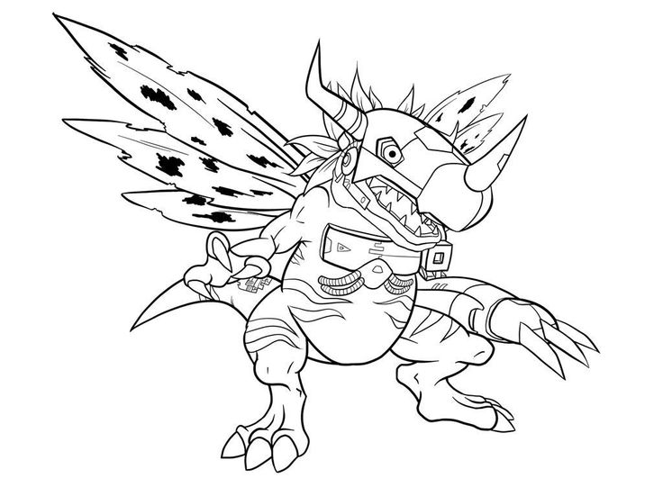 Digimon Digital Monsters Coloring Pages Metalgreymon