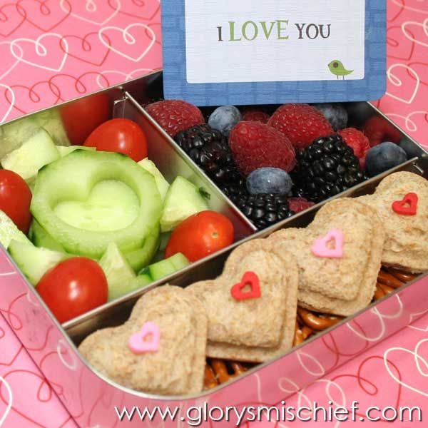 I love you kids school lunch -- Great Back To School Lunch Ideas.