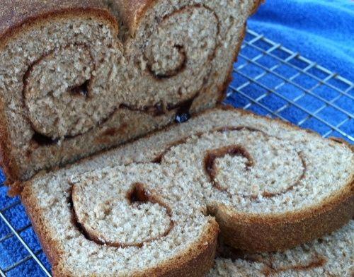 ... living healthy eating breads forward maple cinnamon swirl bread whole