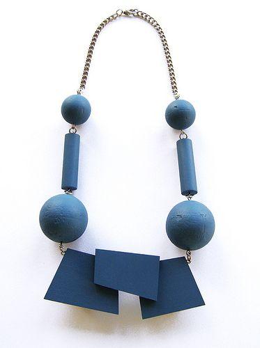 Anu Samaruutel/ Anu Samarüütel  Cubist necklace http://fashionsaboteur.blogspot.co.uk/ www.anuworld.co.uk