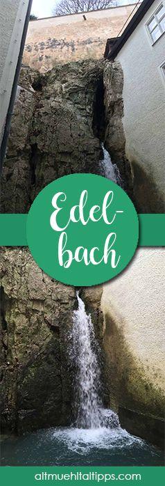 Der Edelbach bei Eichstätt ist ein echter Geheimtipp, denn er sprudelt nur sehr selten. Aus einem Felsen läuft die Karstquelle heraus, die dann in die Altmühl mündet.