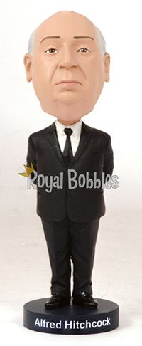 Master of suspense and cinema legend Sir Alfred Hitchcock. #Bobblehead #RoyalBobbles