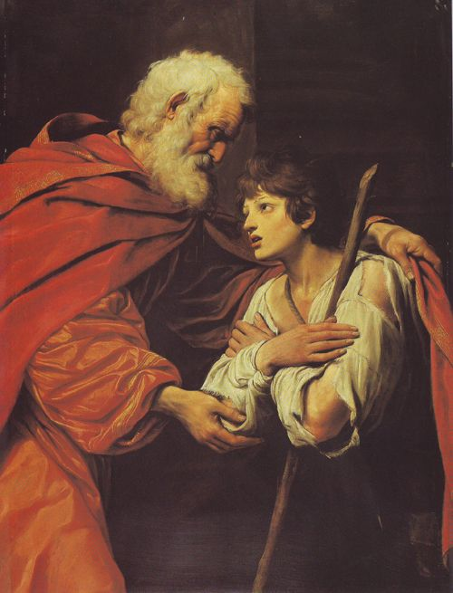 The Prodigal Returns   Oil Paintings - Museums - Louvre - The Return Of The Prodigal Son