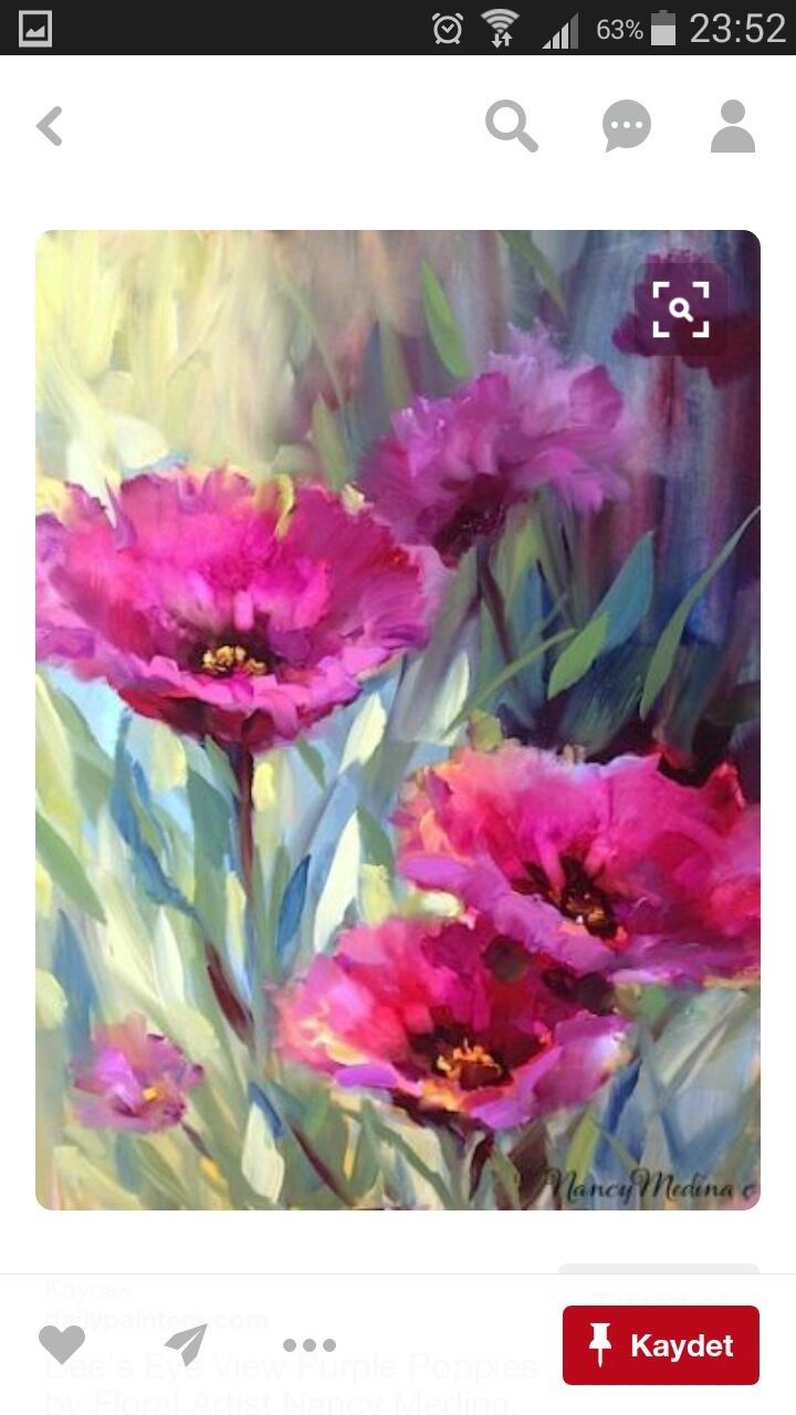 Canvas Paintings, Canvas Art, Painting Flowers, Chinese Painting, Art Floral,  Watercolour Painting, Poppies, Mosaic, Core
