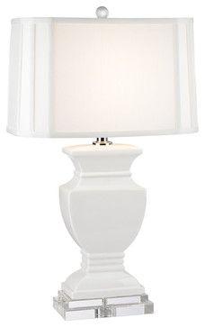 ceramic table lamp gloss white standard bulb traditional table lamps elk