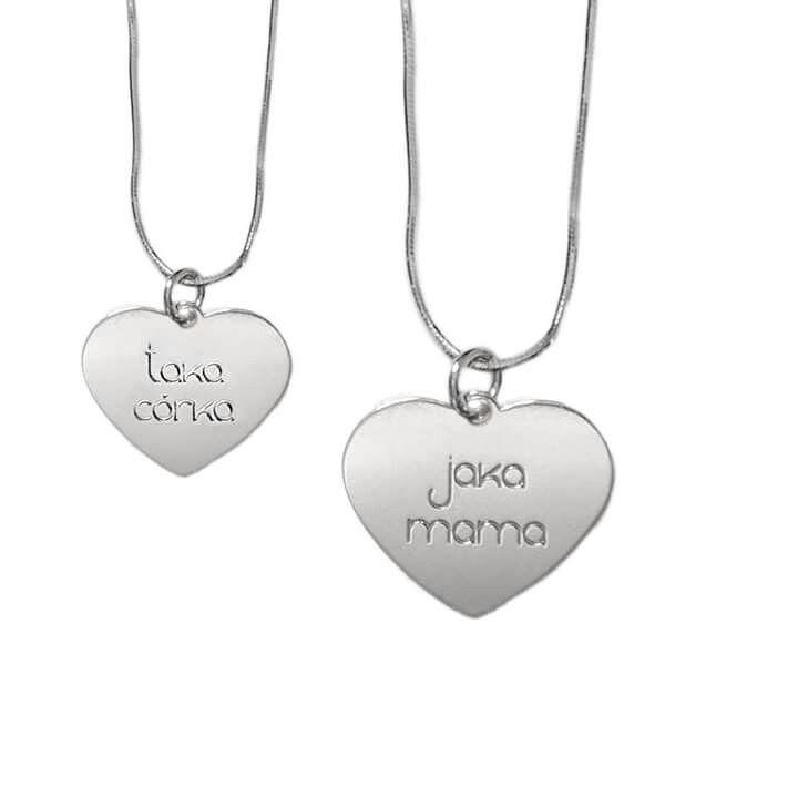 Naszyjnik dla mamy i córki 💞 grawer: jaka mama - taka córka