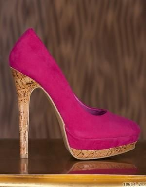 WOMAN PINK SUEDE PUMPS SPRING