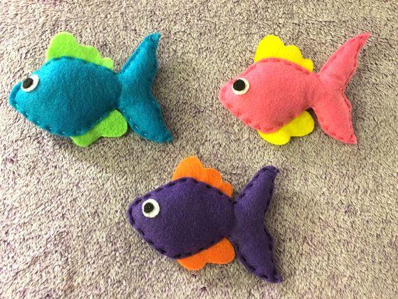 Fish Catnip Toys, Fish Cat Toys, Catnip Toys, Fish for Cats, cat lover gift, Handmade Felt Catnip Toys, Organic Catnip