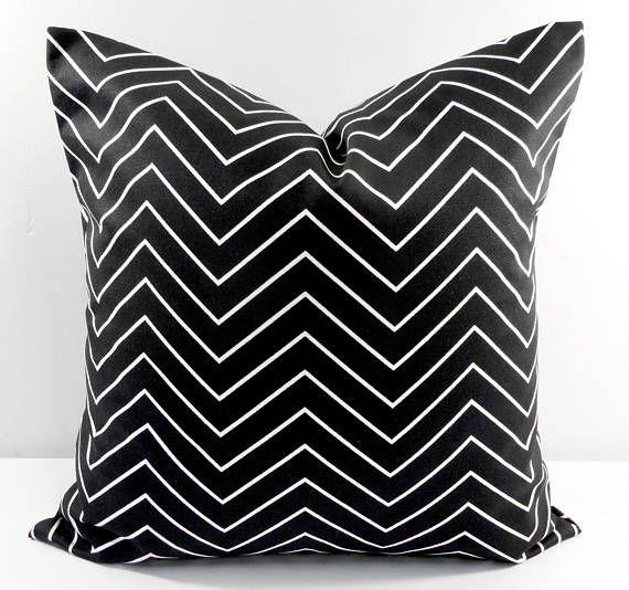 Farmhouse Pillow Cover Black White Pillow Cover Chevron Etsy White Pillow Covers Farmhouse Pillows Pillows