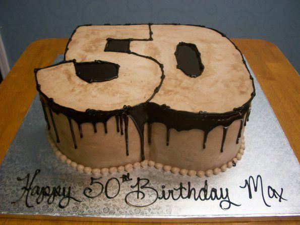 Number 50 Shaped Birthday Cake Birthday Cake Cake