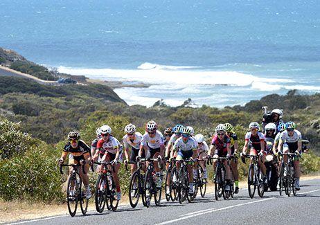 The Cadel Evans Great Ocean Road Race in Victoria, Australia.