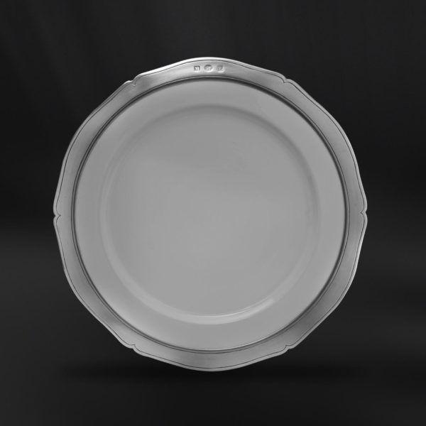 Ceramic & Pewter Dinner Plate - Diameter: 28 cm (11″) - Food Safe Product - #ceramic #pewter #dinner #plate #porcelain #china #peltro #ceramica #piatto #piano #portata #zinn #keramik #teller #étain #etain #céramique #assiette #diner #peltre #tinn #олово #оловянный #tableware #dinnerware #table #accessories #decor #design #bottega #peltro #GT #italian #handmade #made #italy #artisans #craftsmanship #craftsman #primitive #vintage #antique #viviana