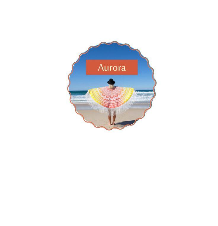 Mandala Roundie Throws (Aurora) by KateStClaireLivingCo on Etsy