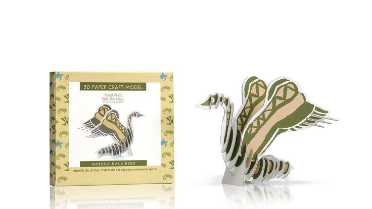 Navarino Icons 3D Paper Craft Model Bird